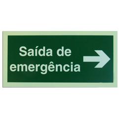 Sinalização de saída emergência